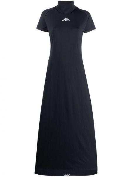 Платье макси с вышивкой - черное Kappa