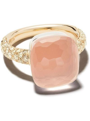 Różowy złoty pierścionek z diamentem Pomellato