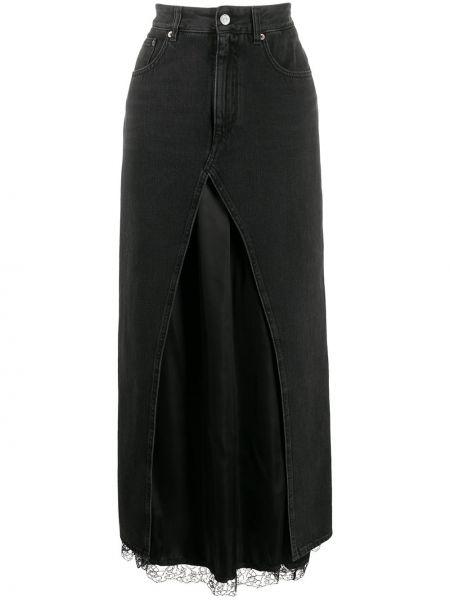 Прямая классическая с завышенной талией юбка макси на молнии Mm6 Maison Margiela