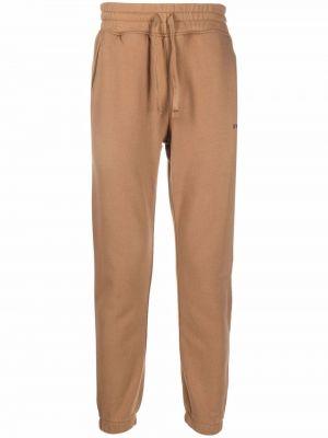 Brązowe spodnie bawełniane Hydrogen