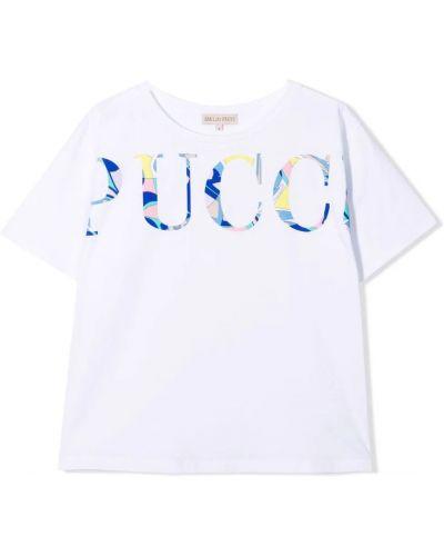 Biała t-shirt Emilio Pucci