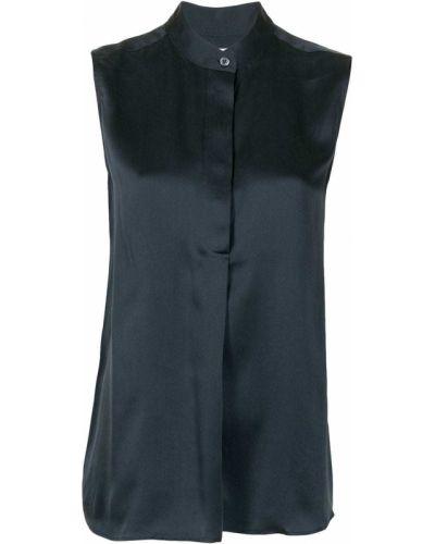 Синяя шелковая блузка с воротником Equipment
