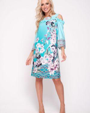 Платье мини из штапеля платье-сарафан Leleya