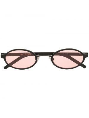 Czarne okulary srebrne Off Duty