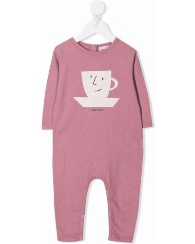 Różowa piżama bawełniana Bobo Choses