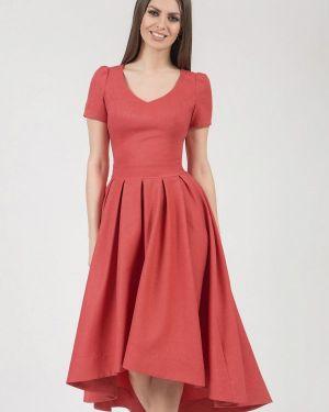 Платье миди коралловый красный Olivegrey
