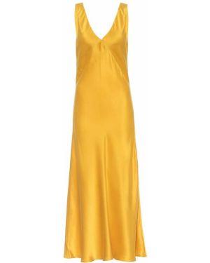 Платье миди из штапеля шелковое Asceno