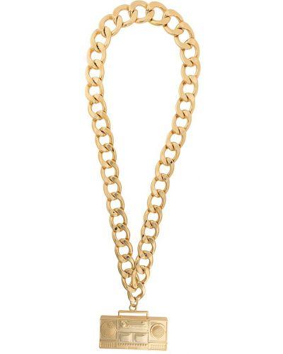 Золотистая подвеска золотая металлическая Moschino