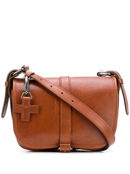 Коричневая сумка через плечо с перьями на молнии с карманами A.f.vandevorst