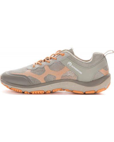Кожаные полуботинки на шнуровке бежевые Outventure