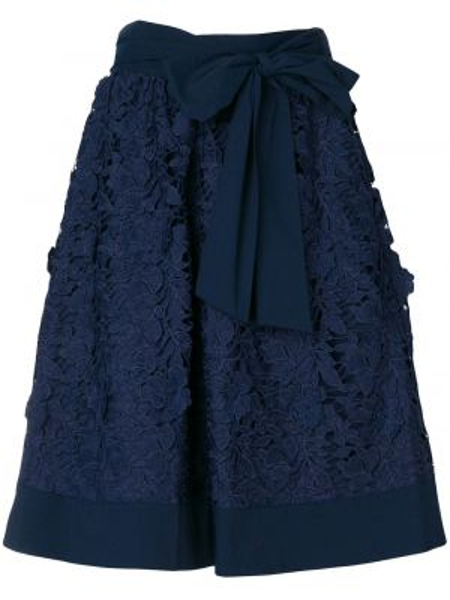 Хлопковая юбка - синяя Steffen Schraut