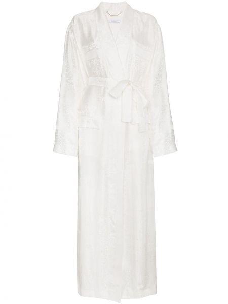 Kurtka skórzana długa z wzorem Givenchy