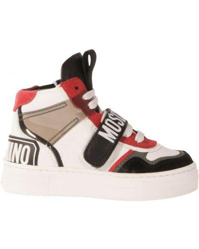 Sneakersy - białe Moschino