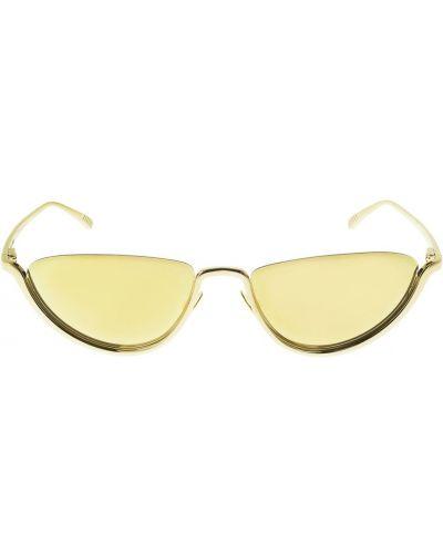 Солнцезащитные очки металлические - золотые Bottega Veneta