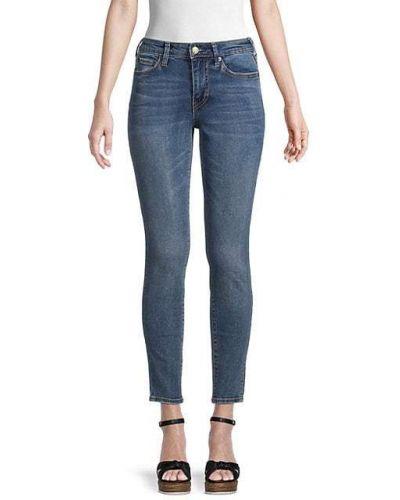 Хлопковые джинсы с карманами с заплатками True Religion