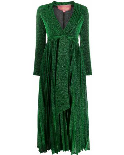 Платье макси плиссированное с V-образным вырезом Amuse