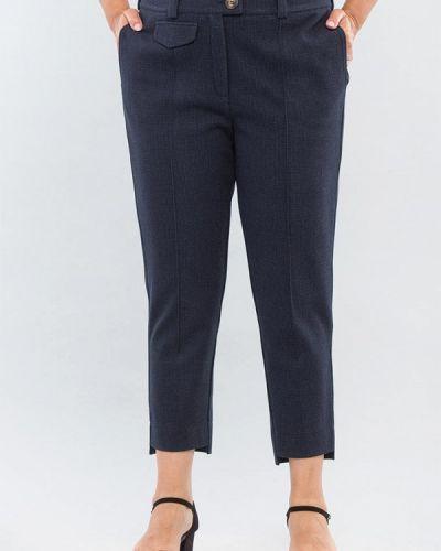 Синие прямые брюки Maxa