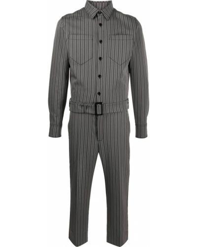 С рукавами серый комбинезон с карманами на пуговицах Viktor & Rolf
