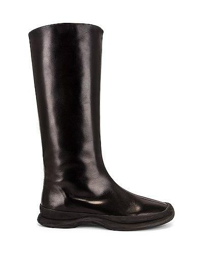 Черные итальянские ботинки The Row