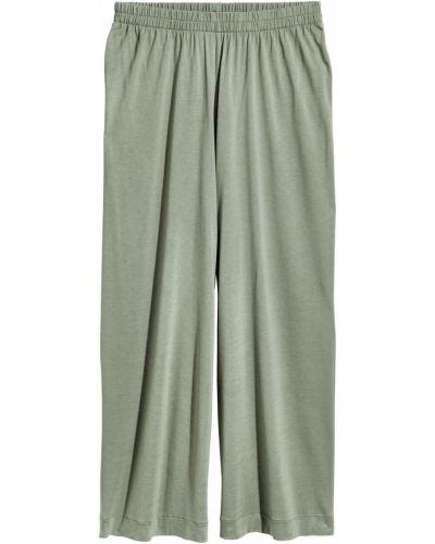 Зеленые брюки на резинке свободного кроя H&m