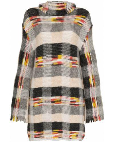 Платье мини с бахромой с капюшоном Missoni