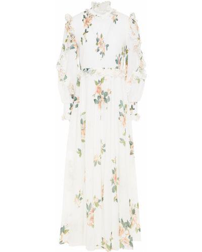 Хлопковое белое платье макси с подкладкой Zimmermann