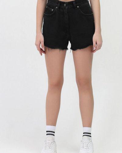 Черные джинсовые шорты Minnim