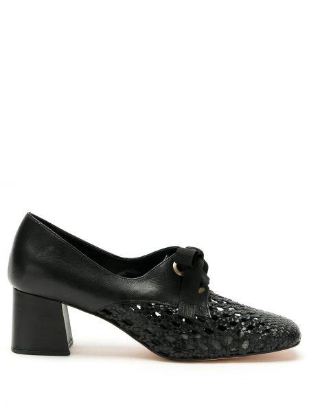 Туфли на каблуке черные Sarah Chofakian
