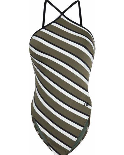 Купальник в полоску - зеленый Solid & Striped