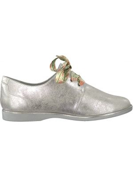 Ботинки на шнуровке кожаные на каблуке Tamaris