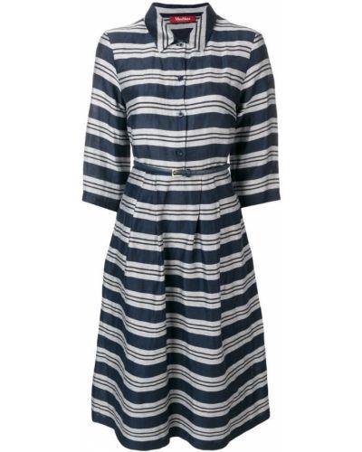 Платье рубашка - синее Max Mara Studio