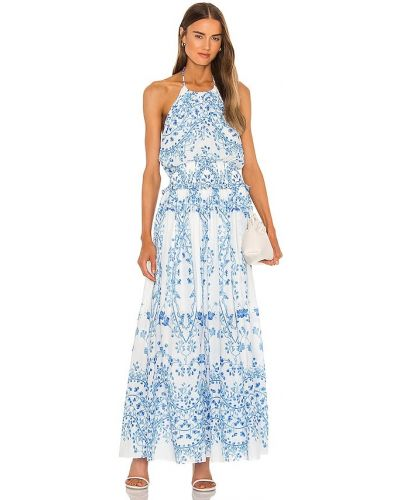 Niebieska sukienka midi Bcbgmaxazria