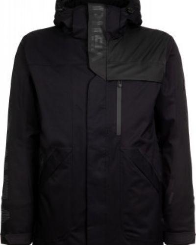 Шерстяная прямая теплая черная утепленная куртка VÖlkl
