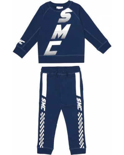 Niebieski bawełna bawełna dres do biegania Stella Mccartney Kids