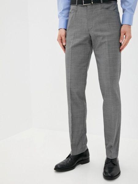 Серые зауженные брюки бязевые La Biali