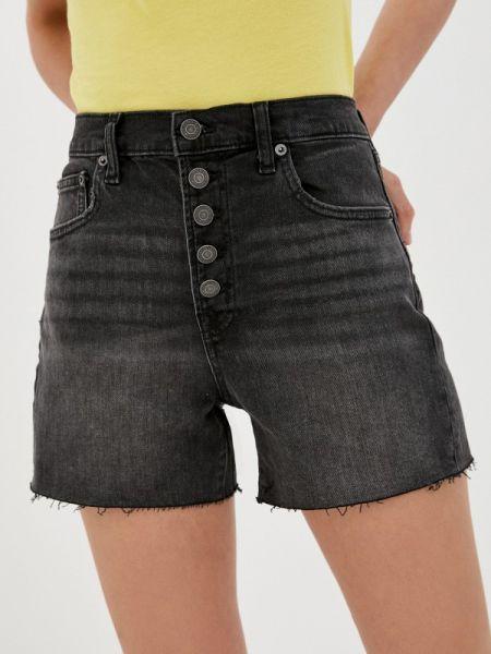 Черные джинсовые шорты со стразами Gap