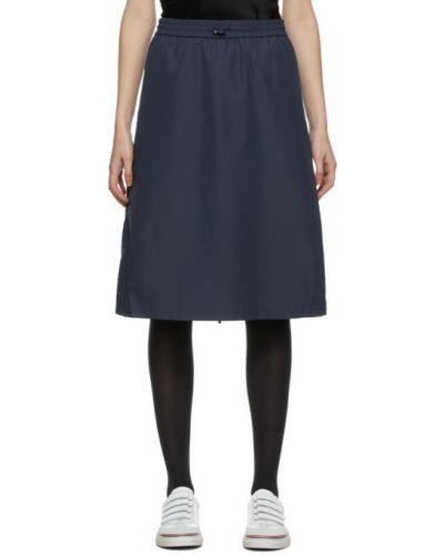 С кулиской сатиновая юбка с карманами с сеткой Thom Browne
