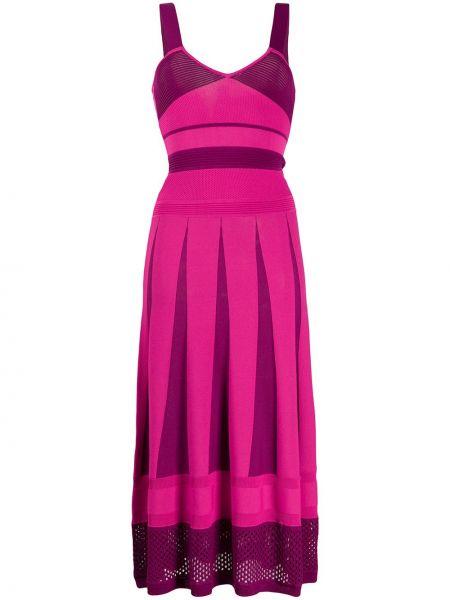 Платье миди розовое вязаное Pinko