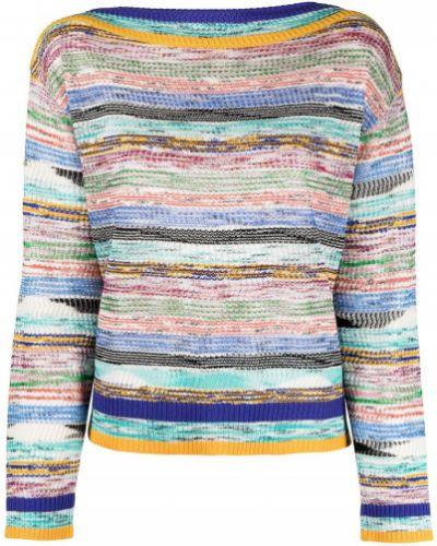 Trykotowy sweter z okrągłym dekoltem z długimi rękawami z wiskozy Missoni