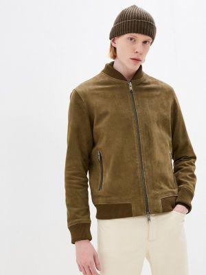 Кожаная куртка - хаки Selected Homme