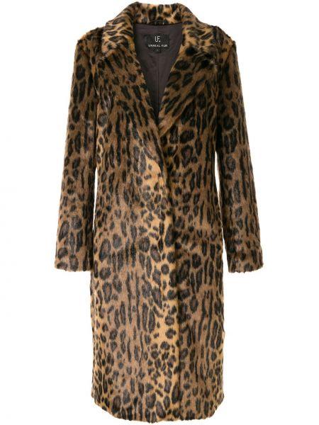 Długi płaszcz z nadrukiem lampart Unreal Fur