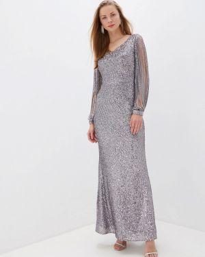 Вечернее платье серое осеннее Joymiss