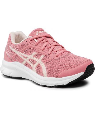 Buty sportowe z siateczką - różowe Asics