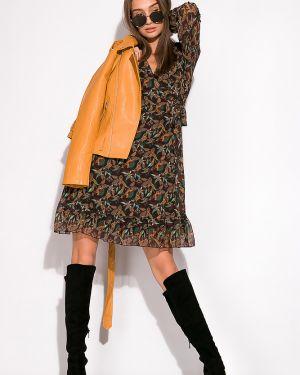 Платье с поясом шифоновое на торжество Time Of Style
