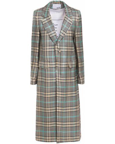 Серое пальто с карманами жаккардовое Each X Other