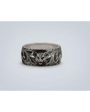 Pierścień srebro zabytkowe Gucci