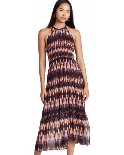 Шелковое платье - синее Alc
