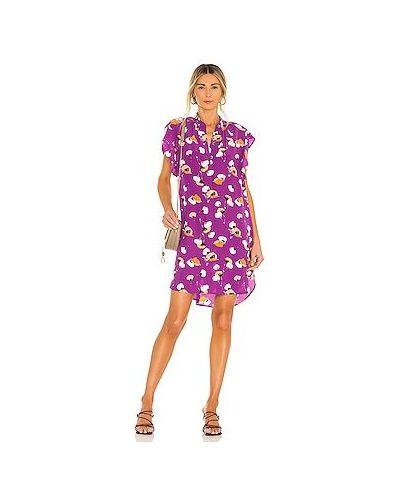 Фиолетовое платье на пуговицах с карманами Equipment