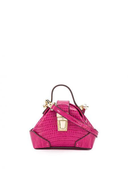 Кожаная сумка через плечо розовый Manu Atelier