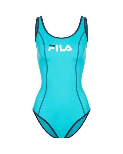 Спортивный купальник - голубой Fila